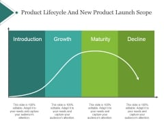 Product Lifecycle And New Product Launch Scope Template 1 Ppt PowerPoint Presentation Slides