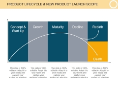Product Lifecycle And New Product Launch Scope Template 2 Ppt PowerPoint Presentation Layout
