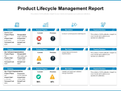 Product Lifecycle Management Report Ppt PowerPoint Presentation Inspiration Information PDF