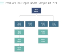 Product Line Depth Chart Sample Of Ppt