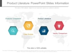 Product Literature Powerpoint Slides Information
