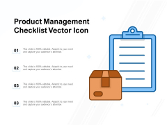 Product Management Checklist Vector Icon Ppt PowerPoint Presentation Model Elements