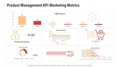 Product Management KPI Marketing Metrics Background PDF