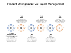 Product Management Vs Project Management Ppt PowerPoint Presentation Summary Master Slide Cpb