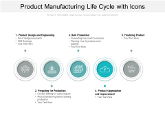 Product Manufacturing Life Cycle With Icons Ppt PowerPoint Presentation Ideas Images PDF
