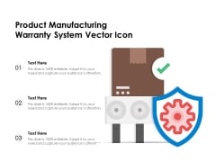 Product Manufacturing Warranty System Vector Icon Ppt PowerPoint Presentation Portfolio Examples PDF