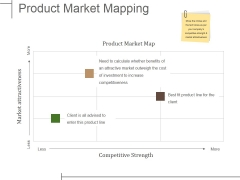 Product Market Mapping Ppt PowerPoint Presentation File Layouts