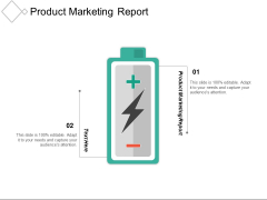 Product Marketing Report Ppt PowerPoint Presentation Infographics Sample Cpb