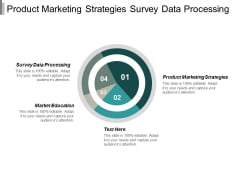 Product Marketing Strategies Survey Data Processing Market Education Ppt PowerPoint Presentation Slides Inspiration