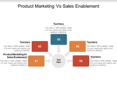 Product Marketing Vs Sales Enablement Ppt PowerPoint Presentation File Images Cpb