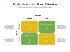 Product Matrix With Brand Extension Ppt PowerPoint Presentation Icon Show PDF
