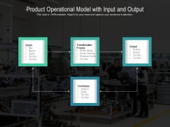 Product Operational Model With Input And Output Ppt PowerPoint Presentation File Master Slide PDF