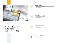 Product Overview In Business Concept Funding Ppt PowerPoint Presentation Model Clipart