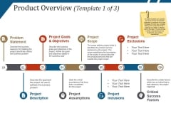 Product Overview Template 1 Ppt PowerPoint Presentation Icon Model