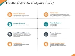 Product Overview Template 1 Ppt PowerPoint Presentation Model Visual Aids