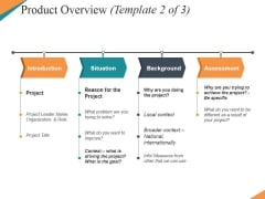 Product Overview Template 2 Ppt PowerPoint Presentation Pictures Guide