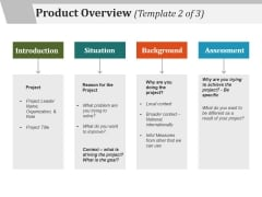 Product Overview Template 2 Ppt PowerPoint Presentation Show Ideas