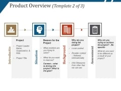 Product Overview Template 2 Ppt PowerPoint Presentation Summary Smartart