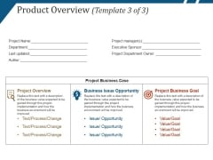 Product Overview Template 3 Ppt PowerPoint Presentation Ideas Design Templates