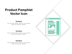 Product Pamphlet Vector Icon Ppt PowerPoint Presentation Outline Slide