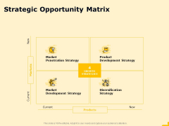 Product Performance And Product Competitive Analysis Strategic Opportunity Matrix Infographics PDF