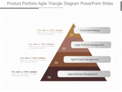 Product Portfolio Agile Triangle Diagram Powerpoint Slides