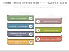 Product Portfolio Analysis Tools Ppt Powerpoint Slides