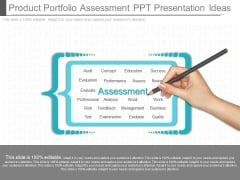 Product Portfolio Assessment Ppt Presentation Ideas