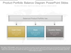 Product Portfolio Balance Diagram Powerpoint Slides