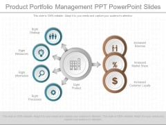 Product Portfolio Management Ppt Powerpoint Slides