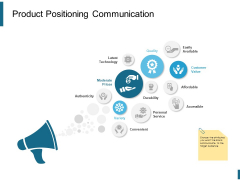 Product Positioning Communication Ppt PowerPoint Presentation Professional Tips