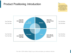 Product Positioning Introduction Ppt PowerPoint Presentation Model Files