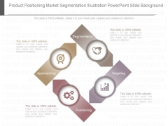 Product Positioning Market Segmentation Illustration Powerpoint Slide Background