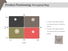 Product Positioning Perceptual Map Ppt PowerPoint Presentation Icon Ideas