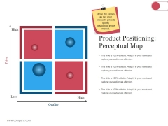 Product Positioning Perceptual Map Ppt PowerPoint Presentation Infographic Template Pictures