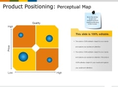 Product Positioning Perceptual Map Ppt PowerPoint Presentation Layouts Backgrounds