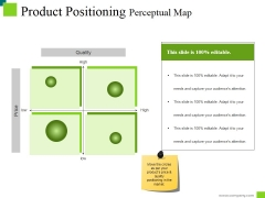 Product Positioning Perceptual Map Ppt PowerPoint Presentation Pictures Slide