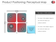 Product Positioning Perceptual Map Ppt PowerPoint Presentation Professional Example Topics