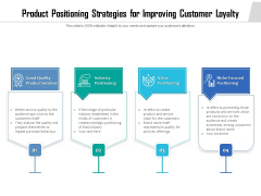 Product Positioning Strategies For Improving Customer Loyalty Ppt PowerPoint Presentation Gallery Pictures PDF