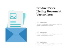 Product Price Listing Document Vector Icon Ppt PowerPoint Presentation Inspiration Slide PDF