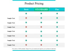 Product Pricing Ppt PowerPoint Presentation Model Icon