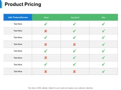 Product Pricing Ppt PowerPoint Presentation Show Guidelines