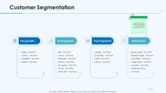 Product Pricing Strategies Customer Segmentation Ppt Portfolio Graphics PDF
