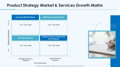 Product Pricing Strategies Product Strategy Market And Services Growth Matrix Ppt Outline Inspiration PDF