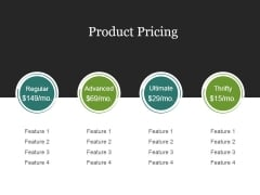 Product Pricing Template 2 Ppt PowerPoint Presentation Designs Download