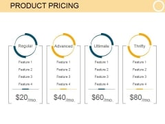 Product Pricing Template 2 Ppt PowerPoint Presentation Themes
