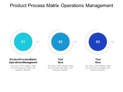 Product Process Matrix Operations Management Ppt PowerPoint Presentation Styles Show Cpb