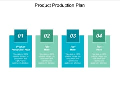 Product Production Plan Ppt PowerPoint Presentation Styles Show Cpb