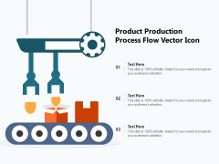 Product Production Process Flow Vector Icon Ppt PowerPoint Presentation Infographic Template Inspiration PDF