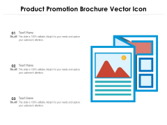 Product Promotion Brochure Vector Icon Ppt PowerPoint Presentation Professional Background PDF
